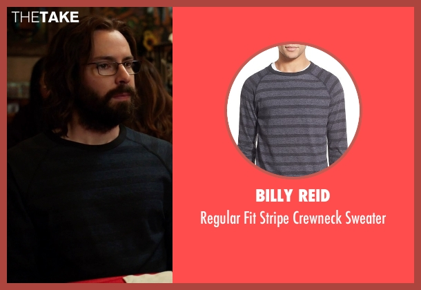 Billy Reid blue sweater from Silicon Valley seen with Bertram Gilfoyle (Martin Starr)