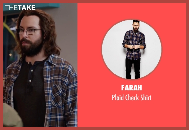 Farah brown shirt from Silicon Valley seen with Bertram Gilfoyle (Martin Starr)