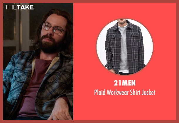 21Men gray jacket from Silicon Valley seen with Bertram Gilfoyle (Martin Starr)