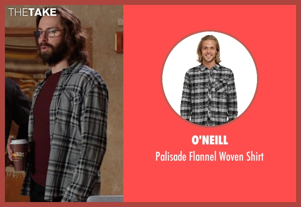 O'Neill gray shirt from Silicon Valley seen with Bertram Gilfoyle (Martin Starr)