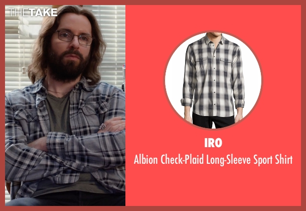 IRO green shirt from Silicon Valley seen with Bertram Gilfoyle (Martin Starr)