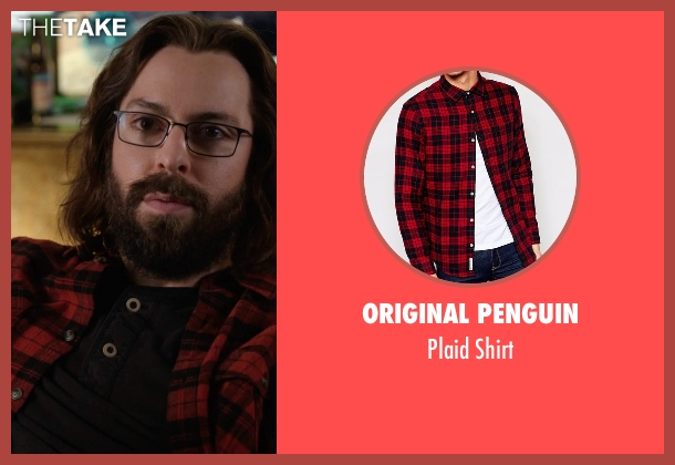 Original Penguin red shirt from Silicon Valley seen with Bertram Gilfoyle (Martin Starr)