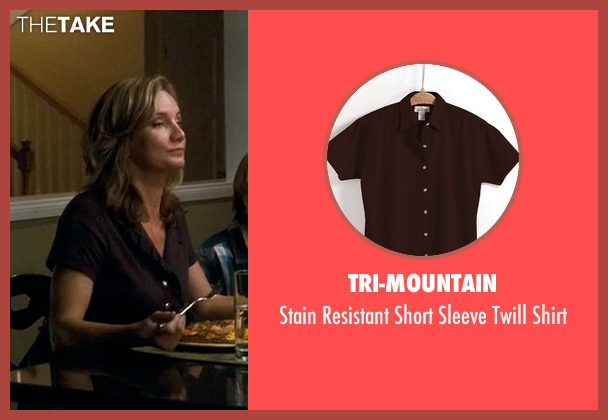 Tri-Mountain brown shirt from Crazy, Stupid, Love. seen with Beth Littleford (Claire)