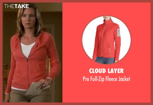 Cloud Layer orange jacket from Crazy, Stupid, Love. seen with Beth Littleford (Claire)