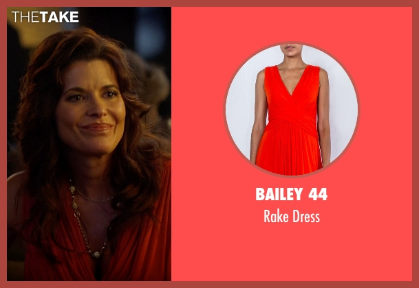 Bailey 44 orange dress from Need for Speed seen with Beth Waugh (Investor's Wife)
