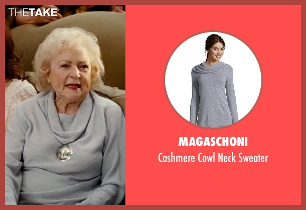 Magaschoni gray sweater from The Proposal seen with Betty White (Grandma Annie)