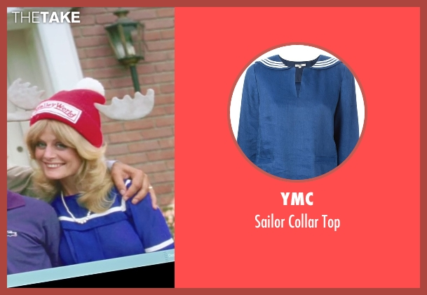 YMC blue top from Vacation seen with Beverly D'Angelo (Ellen Griswold)