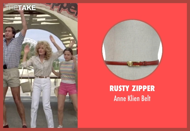 Rusty Zipper brown belt from Vacation seen with Beverly D'Angelo (Ellen Griswold)