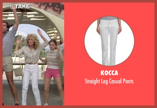 Kocca white pants from Vacation seen with Beverly D'Angelo (Ellen Griswold)
