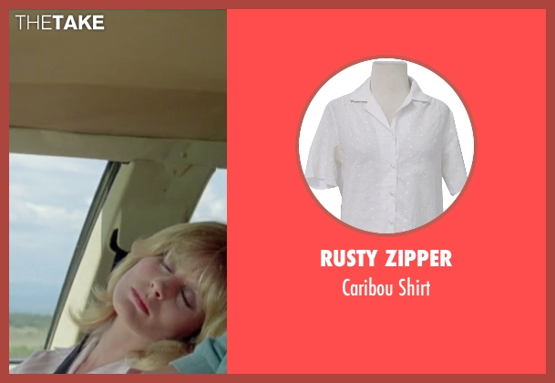 Rusty Zipper white shirt from Vacation seen with Beverly D'Angelo (Ellen Griswold)