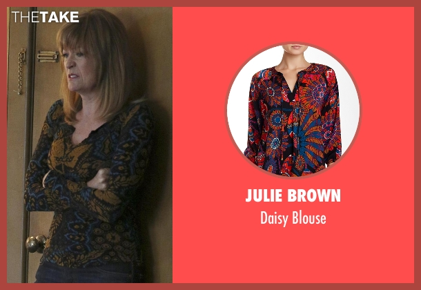 Julie Brown black blouse from Nashville seen with Beverly O'Connor (Dana Wheeler-Nicholson)