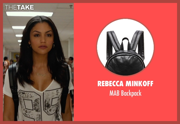 Rebecca Minkoff black backpack from The DUFF seen with Bianca A. Santos (Casey)