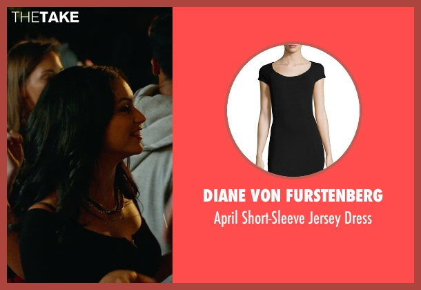 Diane von Furstenberg black dress from The DUFF seen with Bianca A. Santos (Casey)