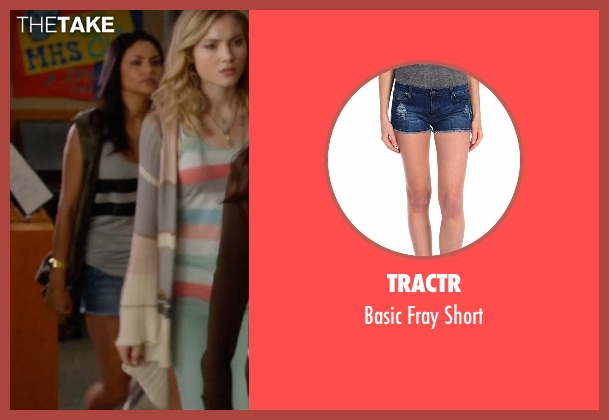 Tractr blue short from The DUFF seen with Bianca A. Santos (Casey)