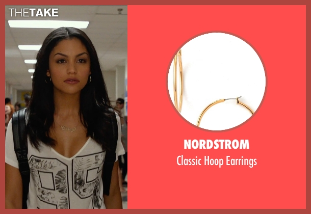 Nordstrom gold earrings from The DUFF seen with Bianca A. Santos (Casey)