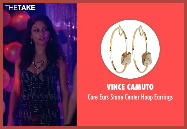 Vince Camuto gold earrings from The DUFF seen with Bianca A. Santos (Casey)