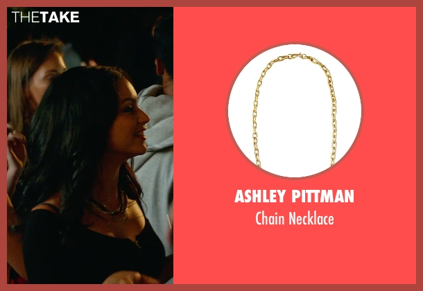 Ashley Pittman gold necklace from The DUFF seen with Bianca A. Santos (Casey)