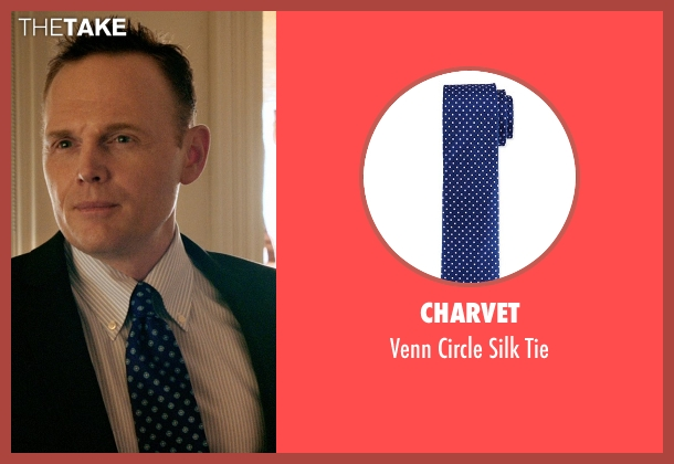 Charvet blue tie from Black or White seen with Bill Burr (Rick Reynolds)