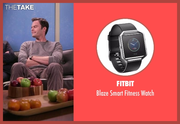 Fitbit black watch from Chelsea seen with Bill Hader