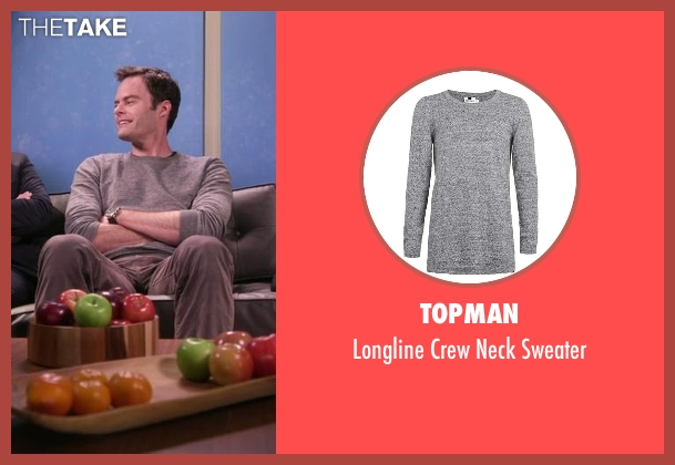 Topman gray sweater from Chelsea seen with Bill Hader