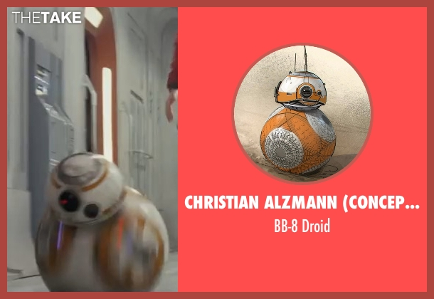 Christian Alzmann (Concept Artist) droid from Star Wars: The Last Jedi seen with Bill Hader (BB-8)