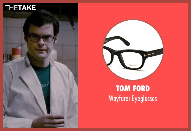Tom Ford black eyeglasses from The Disappearance of Eleanor Rigby seen with Bill Hader (Stuart)