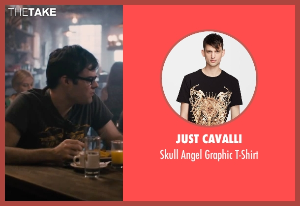 Just Cavalli black t-shirt from The Disappearance of Eleanor Rigby seen with Bill Hader (Stuart)