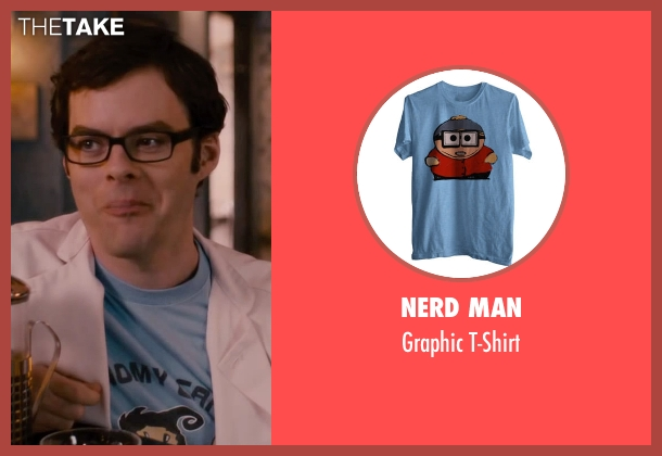 Nerd Man blue t-shirt from The Disappearance of Eleanor Rigby seen with Bill Hader (Stuart)