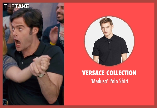 Versace Collection black shirt from Trainwreck seen with Bill Hader (Aaron)