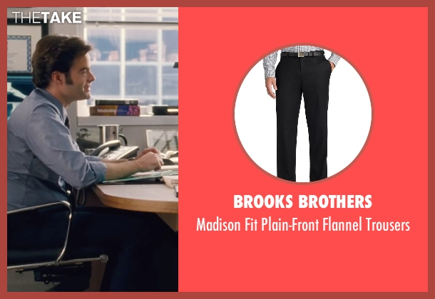 Brooks Brothers black trousers from Trainwreck seen with Bill Hader (Aaron)