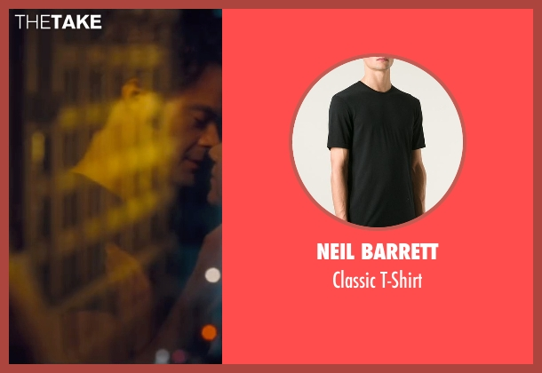 Neil Barrett black t-shirt from Trainwreck seen with Bill Hader (Aaron)