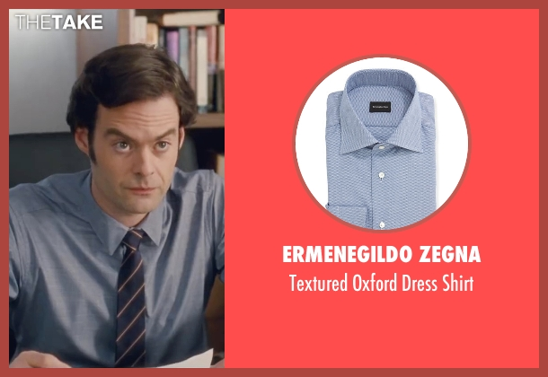 Ermenegildo Zegna blue shirt from Trainwreck seen with Bill Hader (Aaron)