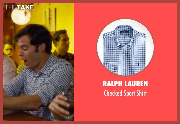 Ralph Lauren blue shirt from Trainwreck seen with Bill Hader (Aaron)