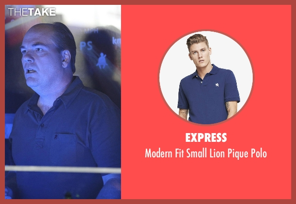 Express blue polo from Nashville seen with Bill Lexington (Rex Linn)