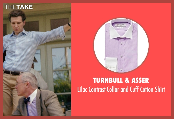 Turnbull & Asser purple shirt from The Best of Me seen with Bill Martin Williams (Uncle)