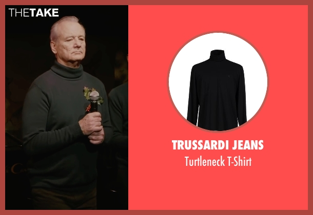 Trussardi Jeans black t-shirt from A Very Murray Christmas seen with Bill Murray