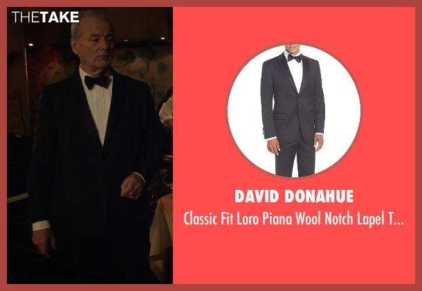 David Donahue black tuxedo from A Very Murray Christmas seen with Bill Murray