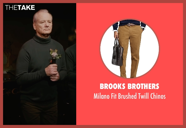 Brooks Brothers brown chinos from A Very Murray Christmas seen with Bill Murray