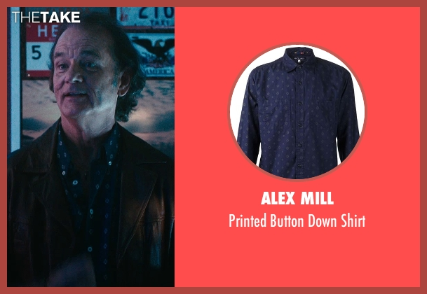 Alex Mill blue shirt from Rock The Kasbah seen with Bill Murray (Richie Lanz)