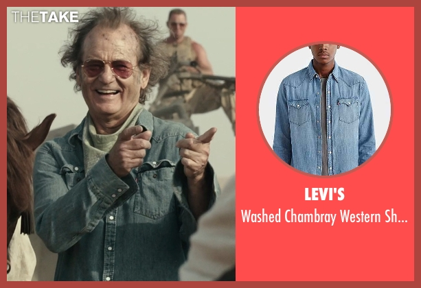 Levi's blue shirt from Rock The Kasbah seen with Bill Murray (Richie Lanz)