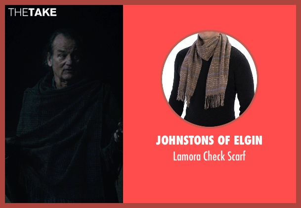 Johnstons of Elgin brown scarf from Rock The Kasbah seen with Bill Murray (Richie Lanz)