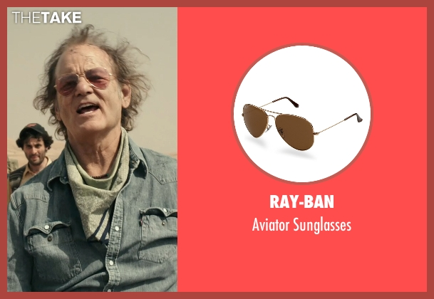 Ray-Ban brown sunglasses from Rock The Kasbah seen with Bill Murray (Richie Lanz)