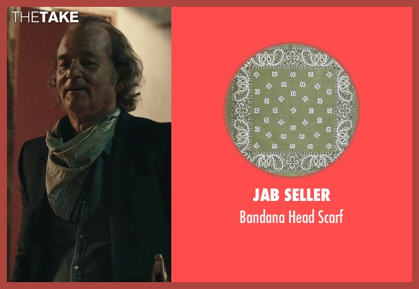 JAB Seller green scarf from Rock The Kasbah seen with Bill Murray (Richie Lanz)