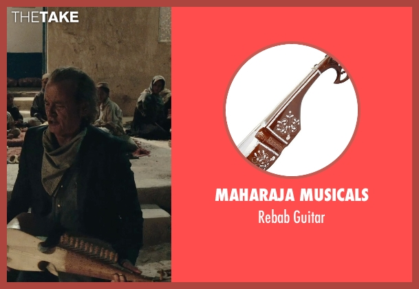 Maharaja Musicals guitar from Rock The Kasbah seen with Bill Murray (Richie Lanz)
