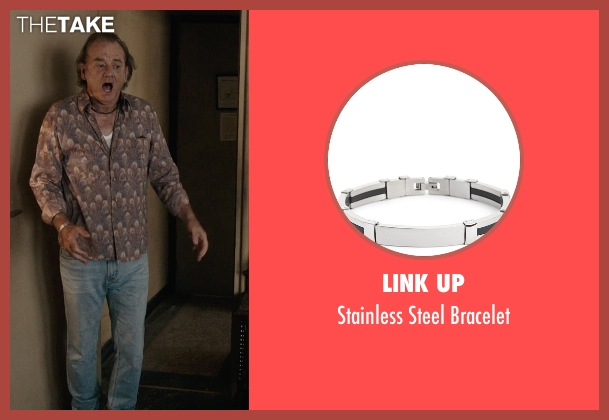 Link Up silver bracelet from Rock The Kasbah seen with Bill Murray (Richie Lanz)