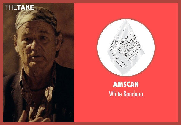 Amscan white bandana from Rock The Kasbah seen with Bill Murray (Richie Lanz)