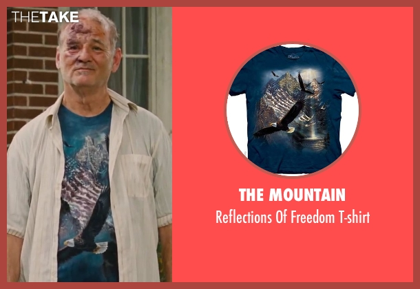 The Mountain blue t-shirt from St. Vincent seen with Bill Murray (St. Vincent de Van Nuys)