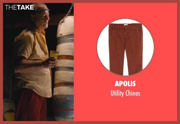 Apolis red chinos from St. Vincent seen with Bill Murray (St. Vincent de Van Nuys)