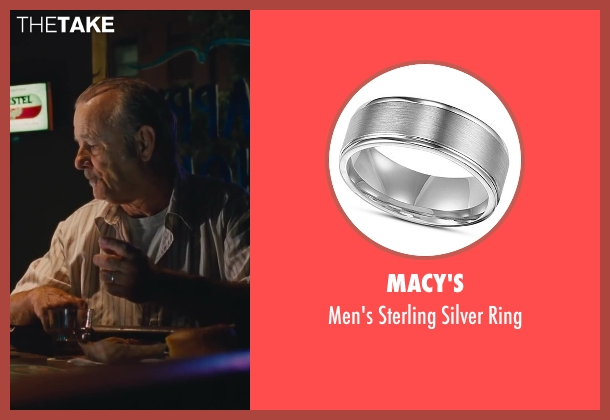 Macy's silver ring from St. Vincent seen with Bill Murray (St. Vincent de Van Nuys)