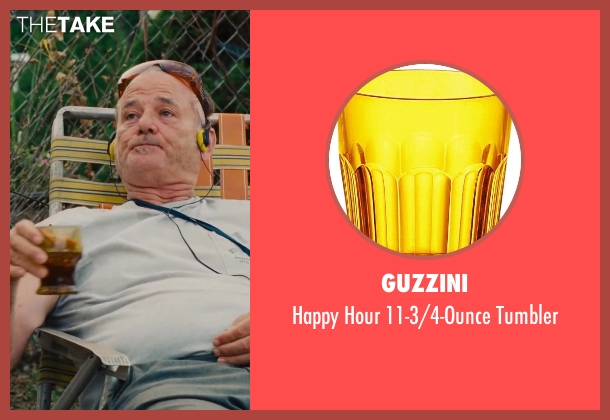 Guzzini tumbler from St. Vincent seen with Bill Murray (St. Vincent de Van Nuys)